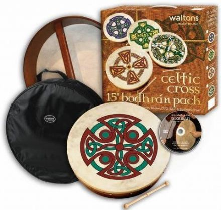 "Waltons 18"" Brosna Cross Bodhran Pack"